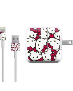 Hello Kitty Multiple Bows Pink iPad Charger (10W USB) Skin