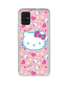 Hello Kitty Pink, Hearts & Rainbows Galaxy A51 Clear Case