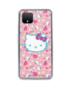 Hello Kitty Pink, Hearts & Rainbows Google Pixel 4 Clear Case