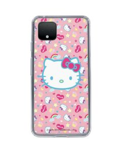 Hello Kitty Pink, Hearts & Rainbows Google Pixel 4 XL Clear Case