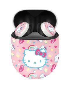 Hello Kitty Pink, Hearts & Rainbows Google Pixel Buds Skin