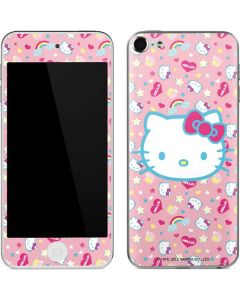 Hello Kitty Pink, Hearts & Rainbows Apple iPod Skin