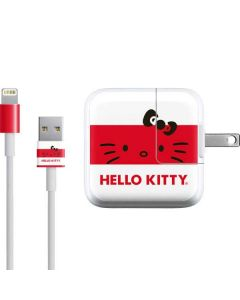 Hello Kitty Red Stripes iPad Charger (10W USB) Skin