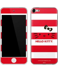 Hello Kitty Red Stripes Apple iPod Skin