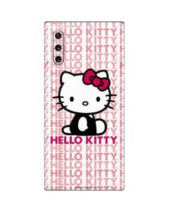 Hello Kitty Repeat Galaxy Note 10 Skin