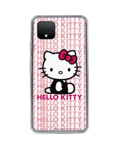 Hello Kitty Repeat Google Pixel 4 Clear Case