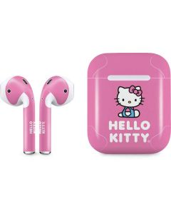 Hello Kitty Sitting Pink Apple AirPods Skin