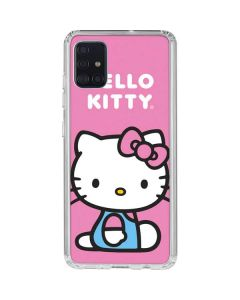 Hello Kitty Sitting Pink Galaxy A51 Clear Case