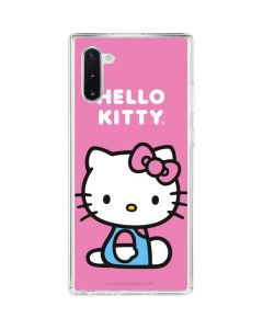 Hello Kitty Sitting Pink Galaxy Note 10 Clear Case