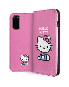 Hello Kitty Sitting Pink Galaxy S20 Folio Case