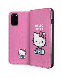 Hello Kitty Sitting Pink Galaxy S20 Plus Folio Case