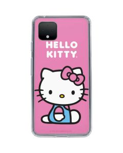 Hello Kitty Sitting Pink Google Pixel 4 Clear Case