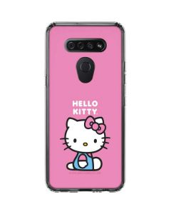 Hello Kitty Sitting Pink LG K51/Q51 Clear Case