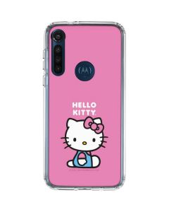 Hello Kitty Sitting Pink Moto G8 Power Clear Case