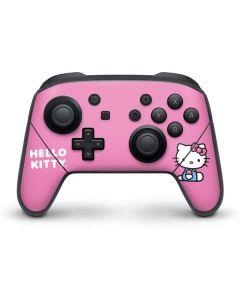 Hello Kitty Sitting Pink Nintendo Switch Pro Controller Skin