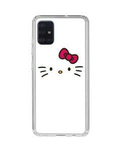 Hello Kitty White Galaxy A51 Clear Case