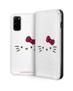 Hello Kitty White Galaxy S20 Folio Case