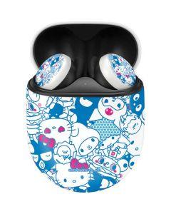 Hello Sanrio Blue Blast Google Pixel Buds Skin