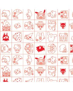 Hello Sanrio Outline Playstation 3 & PS3 Slim Skin