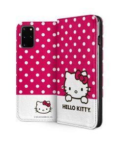HK Pink Polka Dots Galaxy S20 Plus Folio Case