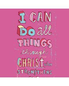 Philippians 4:13 Pink iPhone 7 Skin