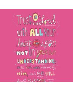 Trust in the Lord Pink Generic Laptop Skin
