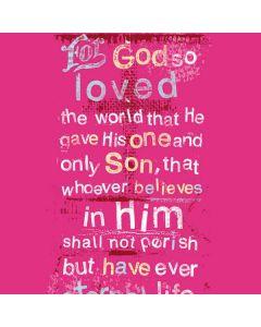 John 3:16 in Pink Generic Laptop Skin