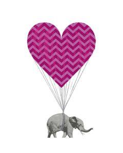 Love Elephant Motorola Droid Skin