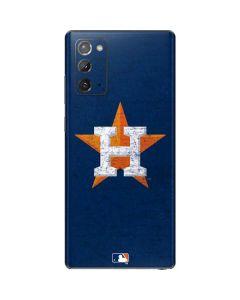 Houston Astros Alternate Distressed Galaxy Note20 5G Skin
