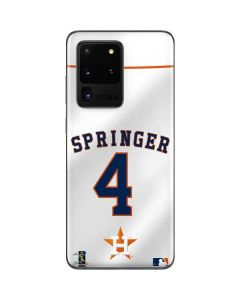 Houston Astros George Springer #4 Galaxy S20 Ultra 5G Skin