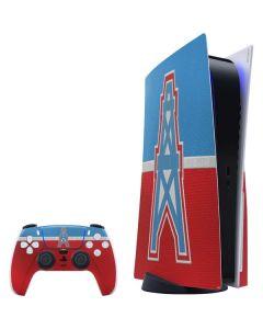 Houston Oilers Vintage PS5 Bundle Skin