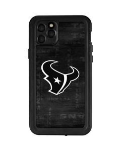 Houston Texans Black & White iPhone 11 Pro Max Waterproof Case