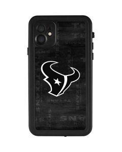Houston Texans Black & White iPhone 11 Waterproof Case