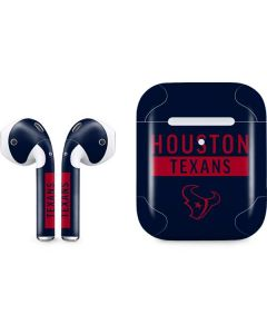 Houston Texans Blue Performance Series Apple AirPods 2 Skin