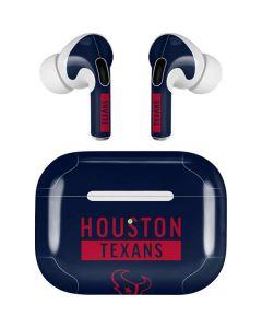 Houston Texans Blue Performance Series Apple AirPods Pro Skin