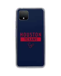 Houston Texans Blue Performance Series Google Pixel 4 Clear Case