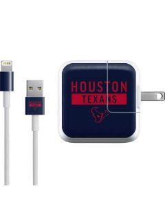 Houston Texans Blue Performance Series iPad Charger (10W USB) Skin