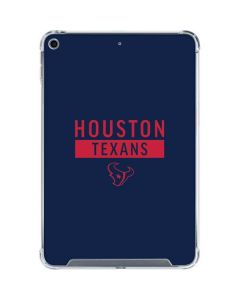 Houston Texans Blue Performance Series iPad Mini 5 (2019) Clear Case