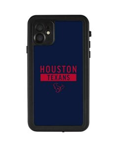 Houston Texans Blue Performance Series iPhone 11 Waterproof Case