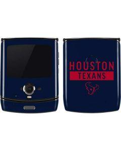 Houston Texans Blue Performance Series Motorola RAZR Skin