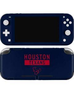 Houston Texans Blue Performance Series Nintendo Switch Lite Skin