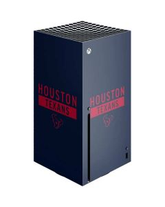 Houston Texans Blue Performance Series Xbox Series X Console Skin