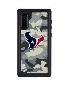Houston Texans Camo Galaxy Note 10 Waterproof Case