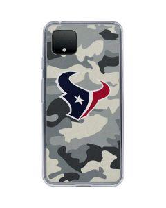Houston Texans Camo Google Pixel 4 Clear Case