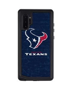 Houston Texans Distressed Galaxy Note 10 Plus Waterproof Case