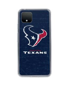 Houston Texans Distressed Google Pixel 4 Clear Case