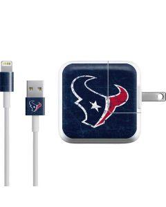 Houston Texans Distressed iPad Charger (10W USB) Skin