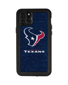 Houston Texans Distressed iPhone 11 Pro Max Waterproof Case