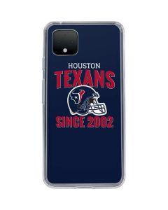 Houston Texans Helmet Google Pixel 4 Clear Case