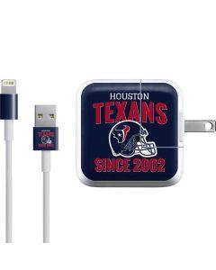 Houston Texans Helmet iPad Charger (10W USB) Skin